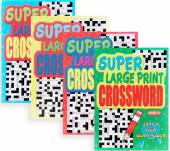 Large print crossword books.*