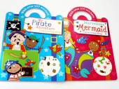 Pirate/mermaid colour & sticker books*
