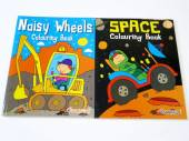 Space/noisy wheels colouring books*