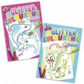 Glitter colouring book - 2asstd*