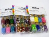 Pack 8, mini craft jars - 3asstd*