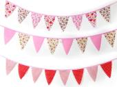 2m floral/dots fabric bunting - 3asstd*