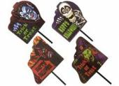 Printed halloween garden sign - 4asstd.