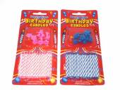 Pack24, birthday candles with holders.*