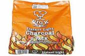 Pkt 2 x1kg instant light charcoal bags*