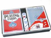Playing cards & dice set in plastic case.*