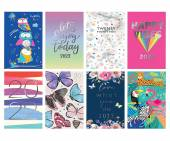2021, slim hardback diary (48x display) - 8/designs.
