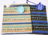 Lge text gift bag (32x26x13cm) - 2asstd*
