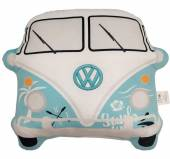 Blue VW Camper Bus shaped cushion.