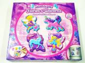 4pc mould & paint fairies/unicorns set