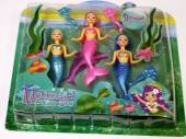 3pc mermaid doll set*