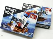 Pirate boat building bricks, 6+ - 2asstd.