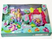 Mermaid doll & swing set*