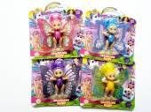 Small sparkling fairy doll (movable wings) - 4/cols*