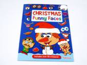 Christmas funny face sticker book.