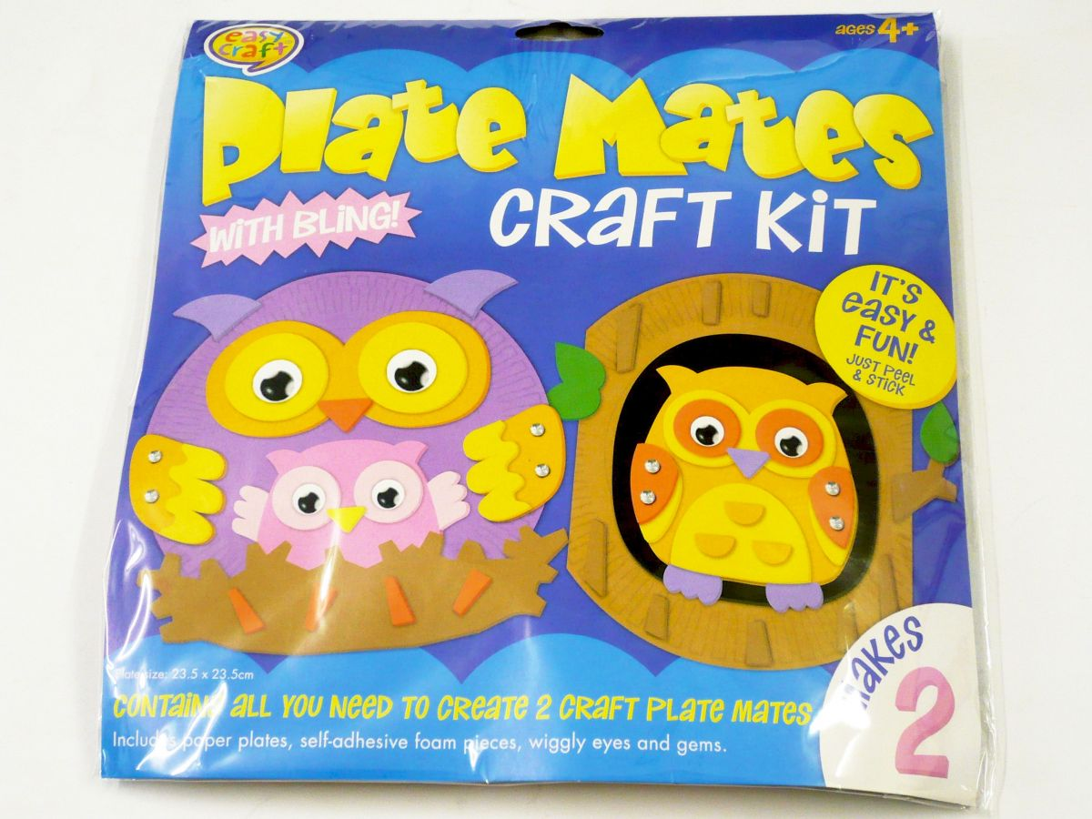 Plate mates craft kit - 4asstd*