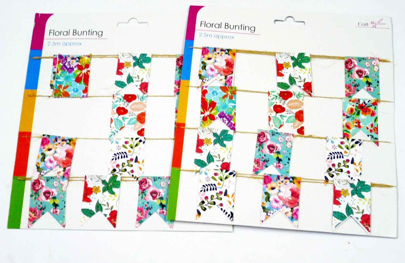 2.5m floral bunting*