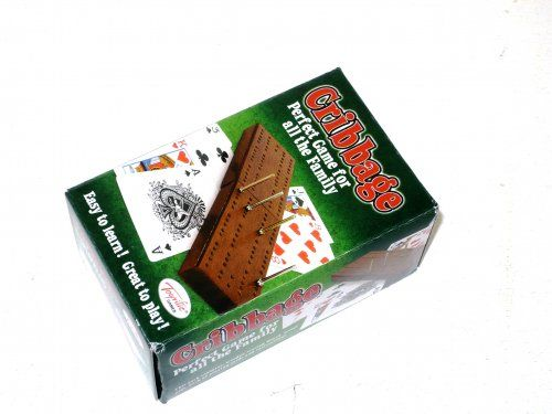"Boxed cribbage set (box 2x2.5x4"")"