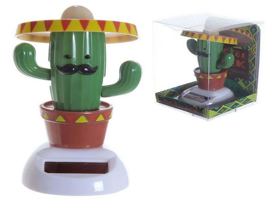 Solar powered cactus with sombrero*