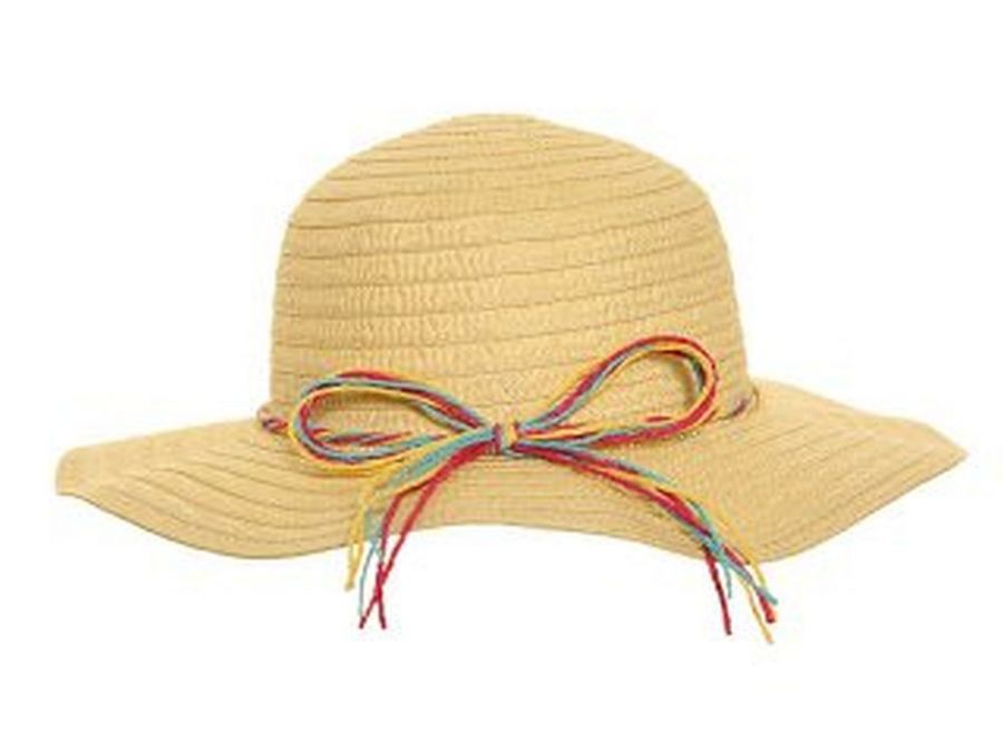 Straw hat with band - 3asstd*