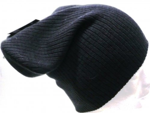Mens slouch knitted beanie hat, 4/cols