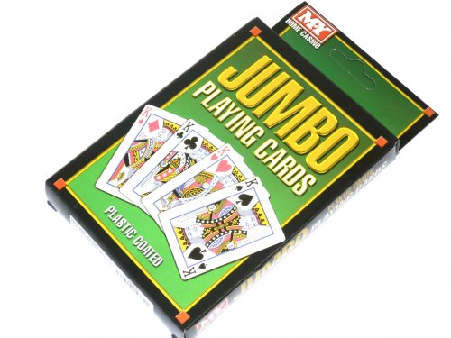 Jumbo playing cards.*