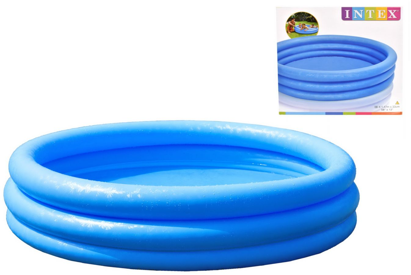 "58""x13"" boxed 3-ring blue pool"