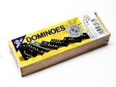 Boxed wooden dominoes.*